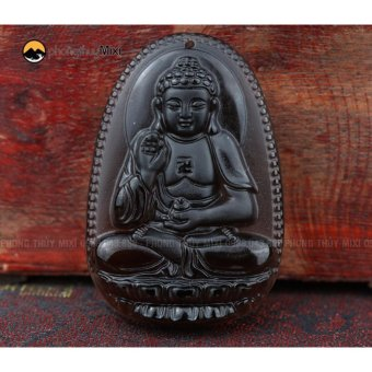 Dây Chuyền Mặt Phật Bản Mệnh Phật A Di Đà Khói