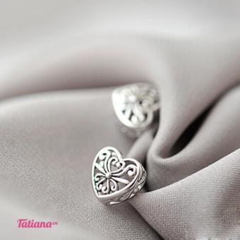 BÔNG TAI LAMOR HEART - TATIANA - B2764 (BẠC)