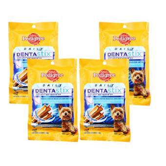 Bộ 4 Gói Bánh Xương Chăm Sóc Răng Dành Cho Chó Con Pedigree DentaStix 4x75g (Mỹ)