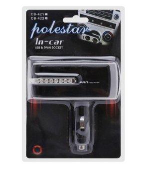 Bộ chia ổ cắm 12V từ tẩu thuốc lá trên ô tô Tienich247 TI5