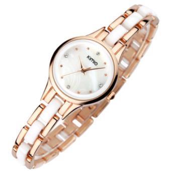 Đồng hồ nữ dây kim loại Kimio 450 (Trắng phối vàng)
