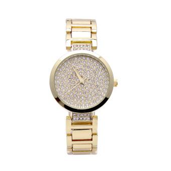 Đồng hồ nữ dây thép không gỉ đính đá PGE063 (Vàng)
