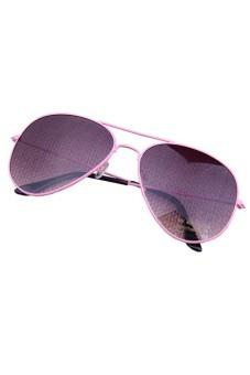 Aviator Metal Protection Sun Glasses Pink and Gray