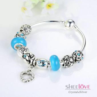Vòng tay nữ hạt charm trái tim thời trang phong thủy PA3076