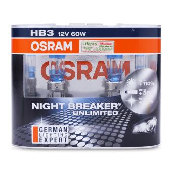 Bộ 2 bóng đèn Osram HB3 Night Breaker Unlimited (Trắng xanh)