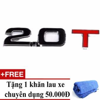 Decal dung tích ô tô (2.0T) + tặng khăn lau xe chuyên dụng
