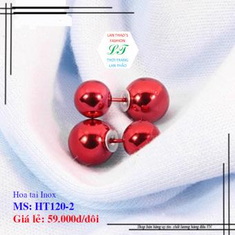 Hoa tai Inox Dior ngọc trai HT120-2