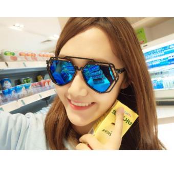 Mắt kính mát thời trang sanh chảnh(xanh)
