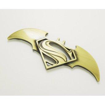 Lô Gô Avengers Superman Batman chiến tranh dán bat xe dán sticker dán xe ô tô (Vàng)