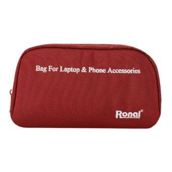 Túi phụ kiện cho laptop và điện thoại - Ronal TPK (Đỏ)