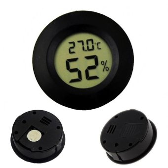 Mini LCD Celsius Digital Thermometer Humidity Meter Freezer Tester Temperature Humidity Meter Detect - intl