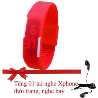 Đồng hồ dây Silicon Siêu mềm thể thao LED SH168 (Tặng tai nghe Xphone thời trang, nghe hay)