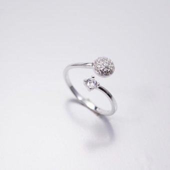 Nhẫn bạc nữ Bạc Xinh S925 Italia RR1284 (Trắng)