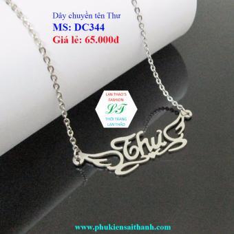 Dây chuyền Inox Nữ tên THƯ siêu xinh DC344 (TRẮNG)