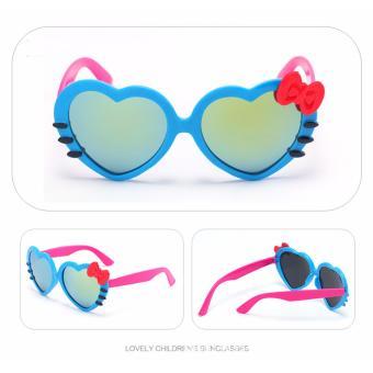 Kính râm chống tia UV hình trái tim cực yêu cho bé (màu xanh dương)