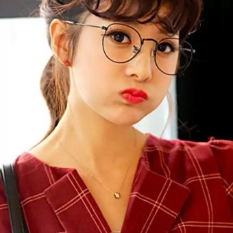 Mắt kính ngố gọng cận không độ Nobita thời trang na nữ (đen)