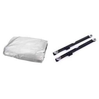 Bộ 1 bạt phủ bảo vệ xe ô tô 4 chỗ và 2 màn che cửa sổ đôi