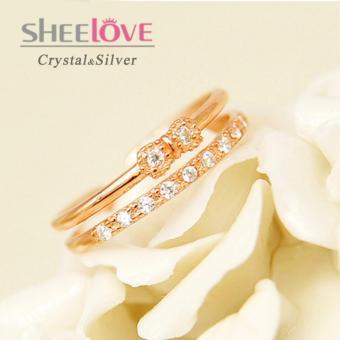 Nhẫn bạc 925 nữ đá Zircon cao cấp thời trang SR-MK94 (Vàng hồng)