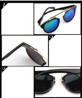 Mắt kính nữ Unisex cao cấp phong cách hàn quốc cực cá tính H117-Trắng (Tặng bao da cao cấp)