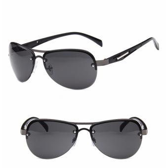 Mắt kính thời trang Nam A - M35 (Gọng đen) + Tặng kèm bao da cao cấp