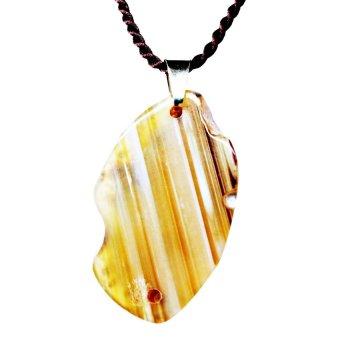 Mặt dây chuyền đá mã não Gemstone Bank (Vàng)