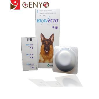 Genyo Điều Trị Rận Tai Ve Ghẻ Bọ Chét Chấy Chó 20-40kg Bravecto + KM 1 Cục Xà Bông Tắm Chó