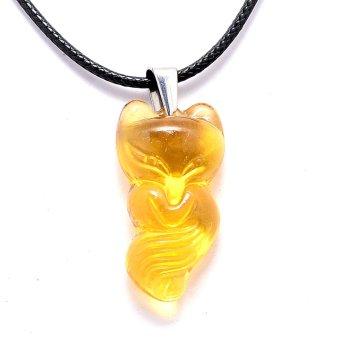 Dây chuyền nữ mặt đá hồ ly THE OXFORD YellowFox (Vàng)