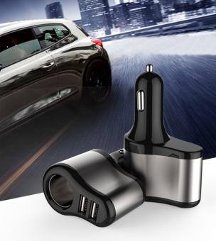 Bộ tẩu sạc đa năng cho ô tô BYZ-805 (đen phối bạc)