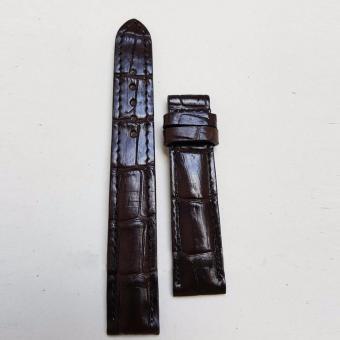 Dây đồng hồ da Cá sấu cao cấp 2 mặt (size 20mm) CS2M (Nâu cà phê)