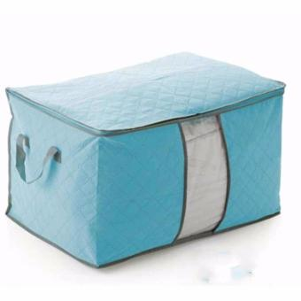 Túi vải đựng chăn màn quần áo (xanh dương)