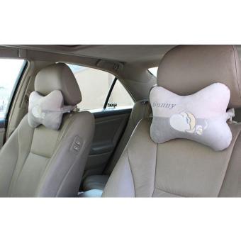 Bộ 02 Đệm gối đầu ghế xe ô tô VIPauto-ĐGĐ02 (Xám)