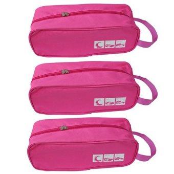 Bộ 3 túi đựng giày du lịch Family Plaza (Hồng)