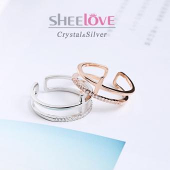 Nhẫn nữ bạc 925 đá Zircon SR-MK95 (Vàng Hồng)