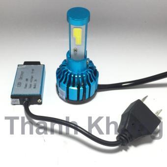 Đèn pha led 2 tim H4-X6 40w siêu sáng gắn pha xe máy Thanh Khang