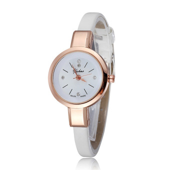 Đồng hồ nữ dây da tổng hợp YUHAO YU003-6 (Trắng)