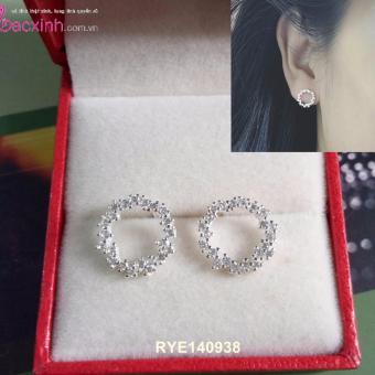 Bông tai nữ trang sức bạc Ý S925 Bạc Xinh - Huyền thoại biển xanh RYE140938