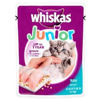 Bộ 10 gói thức ăn cho mèo con vị cá ngừ Whiskas Junior Tuna 85g