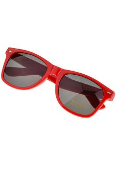 Cyber Retro Sunglasses for Women Colorful Frames Glasses Eyewear (Red)