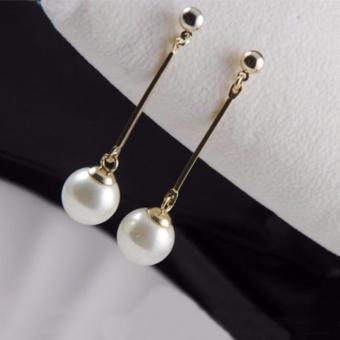 Bông tai nữ dáng dài đính hạt ngọc trai thời trang BT666