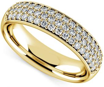 Nhẫn nữ đá kim cương nhân tạo mạ vàng 14k - NNU79