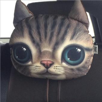Gối tựa đầu ô tô 3D hình mèo đáng yêu