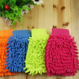 Bộ đôi Găng tay chuyên lau xe hơi,siêu thấm kiêm lau vật dụng siêu sạch N91 (Hồng cam)