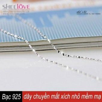 Dây chuyền bạc S925 cổ điển mắt xích nhỏ SN-L05