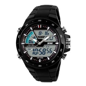 Đồng hồ nam dây nhựa Skmei SK004 (Đen)