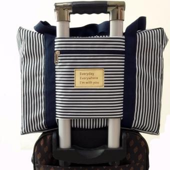 Túi vali kéo du lịch tiện dụng (sọc xanh)