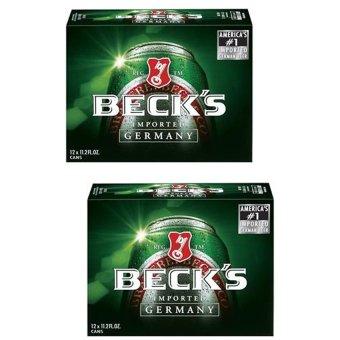 Bộ 2 thùng bia Beck's 12 lon x 500ml
