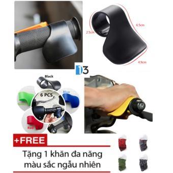 Bộ 2 cái trợ lực tay lái QuickCell Biker - Màu đen + Tặng 1 khăn đa năng màu sắc ngẫu nhiên