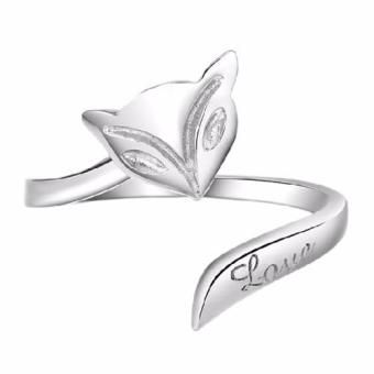 Nhẫn bạc nữ cáo chữ Love
