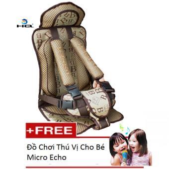 Ghế Ngồi Đa Năng Cho Bé Trên Xe Otô Tặng Kèm Đồ Chơi Thú Vị Micro Echo HQ 1TI16-303B(Nâu)