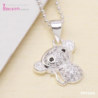 Mặt dây chuyền nữ trang sức bạc Ý S925 Bạc Xinh Mặt khỉ con đáng yêu PP1356